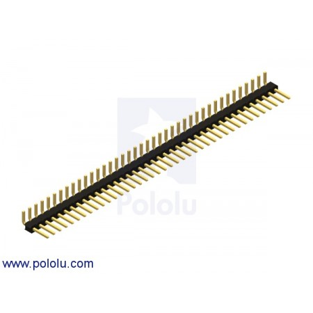 "0.100"" (2.54 mm) Breakaway Male Header: 1x40-Pin, Right Angle"