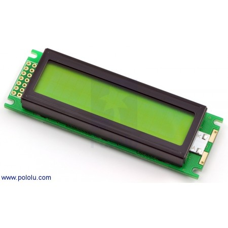16x2 Character LCD with LED Backlight (Parallel Interface) Black or Green