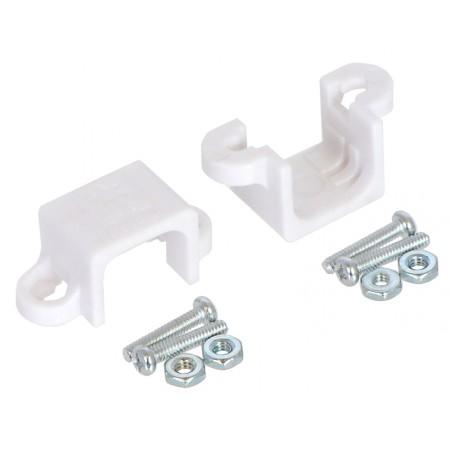 Micro Metal Gearmotor Bracket Pair - White