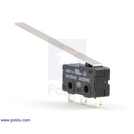 Snap-Action Switch with 50mm Lever: 3-Pin, SPDT, 5A