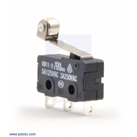 Snap-Action Switch with 16.3mm Roller Lever: 3-Pin