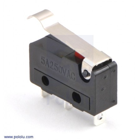Snap-Action Switch with 15.6mm Bump Lever: 3-Pin,