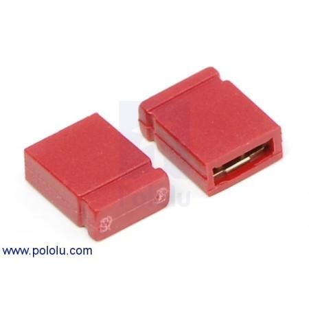 "0.100"" (2.54 mm) Shorting Block: Red, Top Closed"