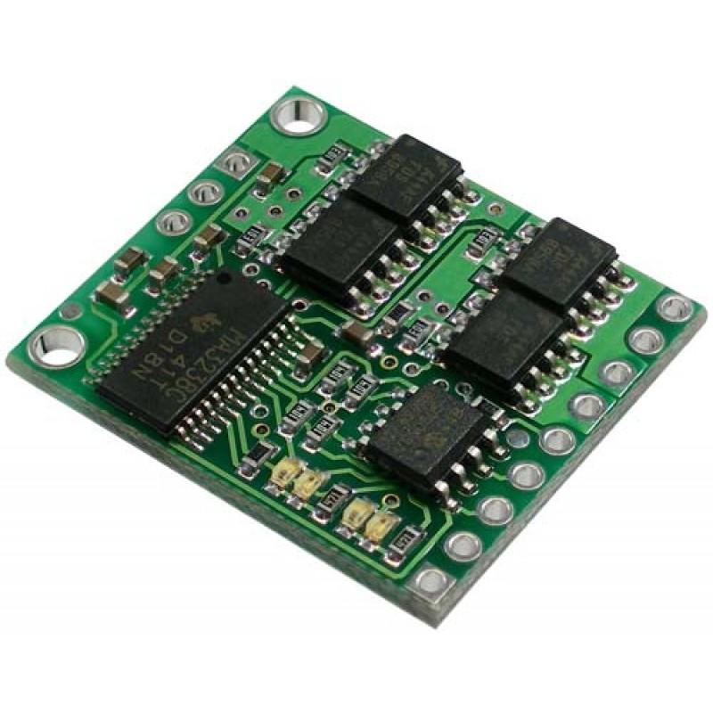 Pololu low voltage dual serial motor controller for Low voltage motor control